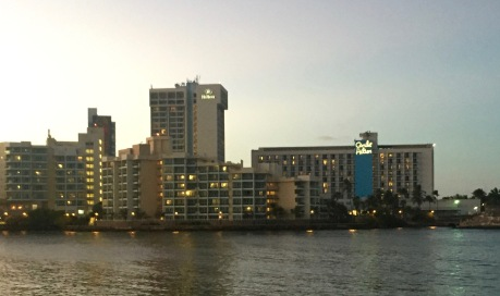 view from the bridge to Condado