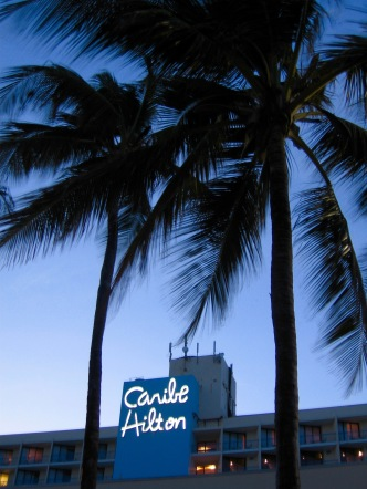 "this sign with the palms just screams ""tropical paradise!"""
