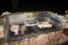 BBQ fresh fish from the coope Tárcoles