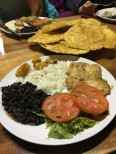 our first dinner in CR, complete with patacones!