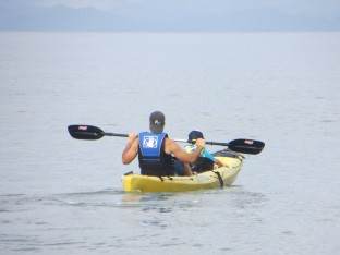 Father-Son bonding in the tandem kayak