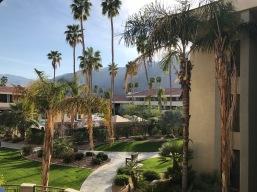 palm springs hilton balcony view 2 travelnerdplans