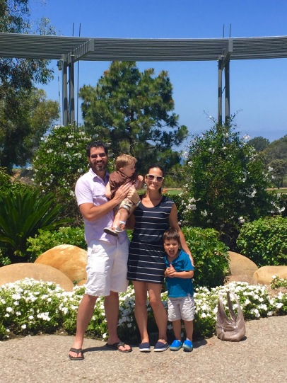 Smiling with my sweet family in La Jolla California