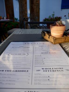 twenty6 menu