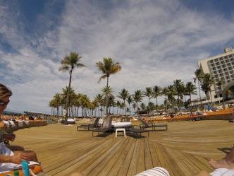 Caribe's beach deck