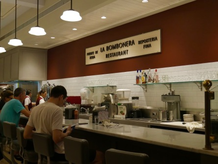 La Bombonera's counter seating