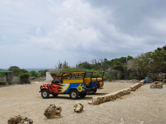 Our safari jeep waiting for us outside of Fontein Cave