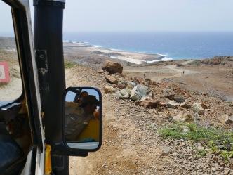 driving through Arikok National Park