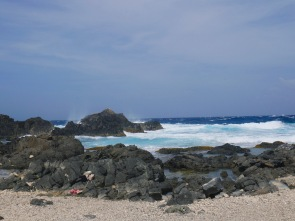 aruba crashing waves by bushiribana
