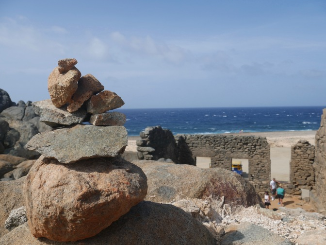 aruba stone stack at bushiribana