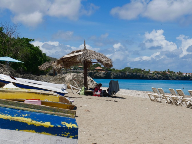 curacao playa piskado with boats