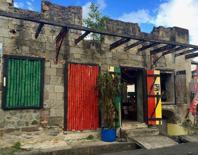 dominica ruins rock cafe