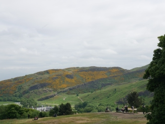 view of Holyrood Park