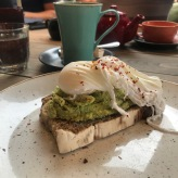 smashed avocado and poached eggs